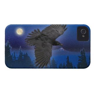 Raven and Moon Fantasy Blackberry Case