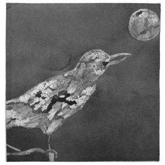 Raven and Moon Napkin