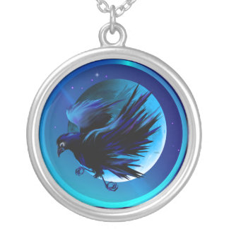Raven and Moon  Necklace