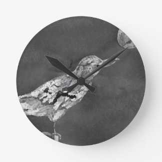 Raven and Moon Round Clock