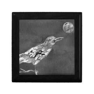 Raven and Moon Small Square Gift Box