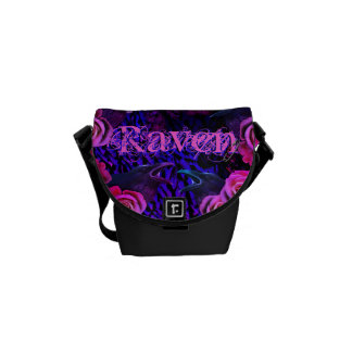 Raven and Roses Evermore Gothic Courier Bags
