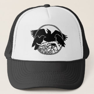 Raven Art Cap Wild Bird Crow Hats Raven Gifts
