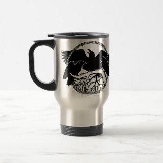 Raven Art Mug Wild Bird Travel Mug Raven  Mugs