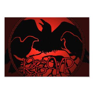 Raven Art RSVP Personalized Native Art Card 9 Cm X 13 Cm Invitation Card