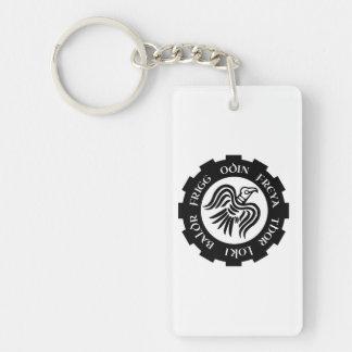 raven banner Double-Sided rectangular acrylic key ring