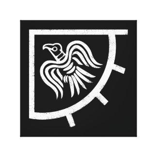 Raven Banner Viking Flag Canvas Print