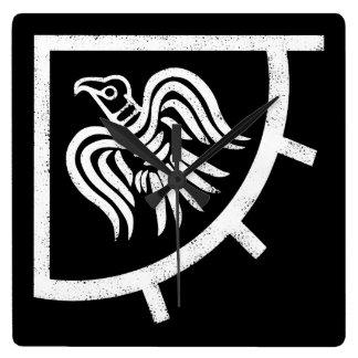 Raven Banner Viking Flag Square Wall Clock