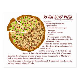 Raven Boys' Pizza Recipe Postcard