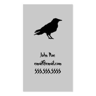Raven Calling Card Pack Of Standard Business Cards
