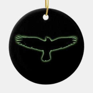 Raven Ceramic Ornament