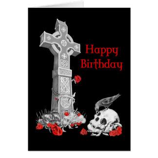 Raven, Cross and Skull Card