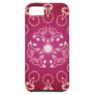 Raven Crow Bird Pentagram Wicca Pagan Spiral Self- iPhone 5 Case
