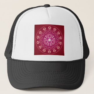 Raven Crow Bird Pentagram Wicca Pagan Spiral Self- Trucker Hat