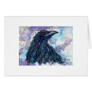 Raven Crow Corvid Blank Greeting Card