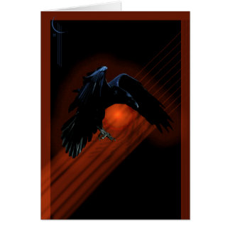 Raven Descent Greeting Card