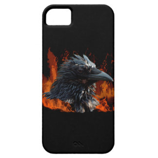 Raven Flames Wiccan Gothic Design iPhone 5 Cases