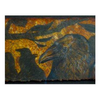 Raven Flock Postcard