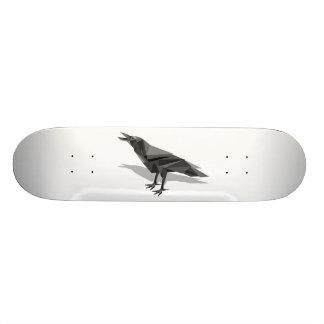 Raven Geometric Cubist Grey Triangles Custom Skate Board