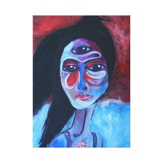 Raven Head Canvas Print