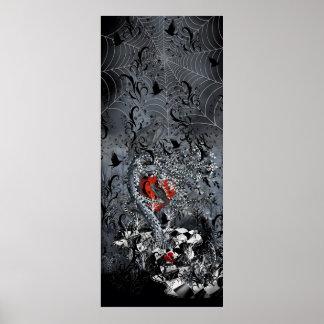 Raven Heart Gothic Poster Art