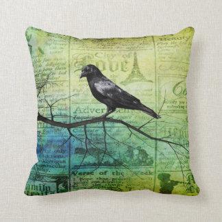 Raven Heart Throw Cushion