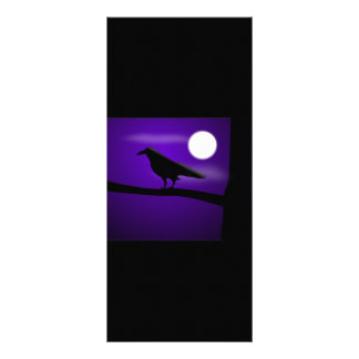 raven_illustration_Vector_Clipart black purple Personalized Rack Card