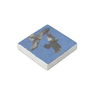 Raven in Flight Stone Magnet