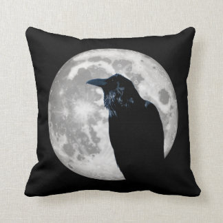 Raven In the Moon Cushion