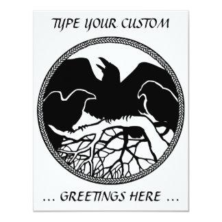Raven Invitations Personalized Native Art Card