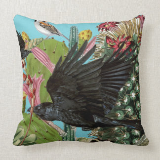 Raven Large Throw Pillow