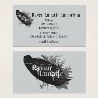 Raven Lunatic Emporium Store Custom Business Card