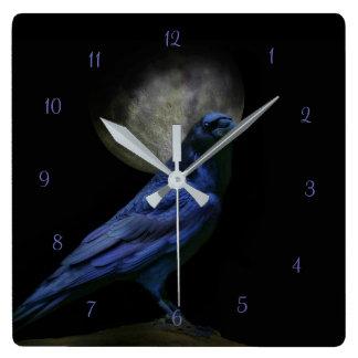 Raven Magic Gothic Clock