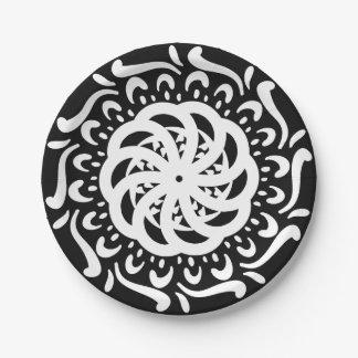 Raven Mandala 7 Inch Paper Plate