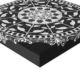 Raven Mandala Canvas Print
