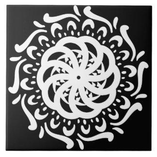 Raven Mandala Ceramic Tile