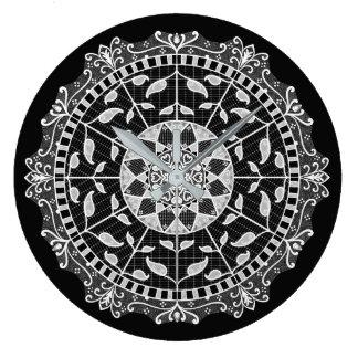 Raven Mandala Large Clock