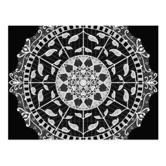 Raven Mandala Postcard