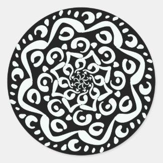 Raven Mandala Round Sticker