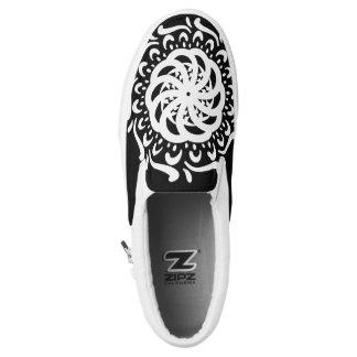 Raven Mandala Slip On Shoes