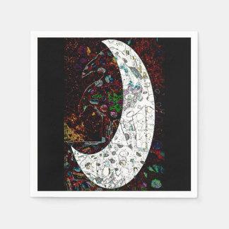Raven Moon Disposable Serviette