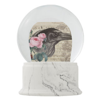 Raven Music Snow Globe