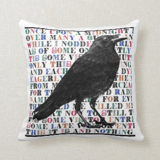 Raven Never More throw pillow