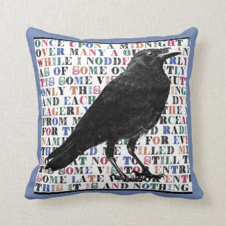 Raven Never More Throw Pillows