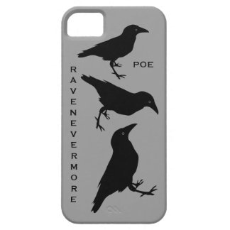 Raven Nevermore Edgar Allen Poe Black Birds iPhone 5 Cases