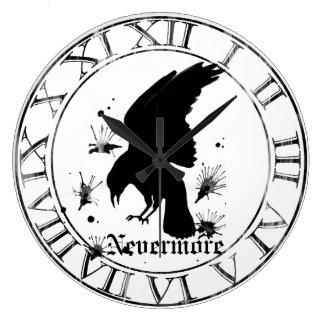 Raven Nevermore Large Clock
