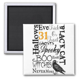 Raven Nevermore Magnet Halloween