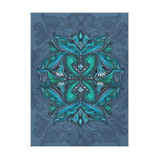 Raven of mirrors, dreams, bohemian, shaman canvas print