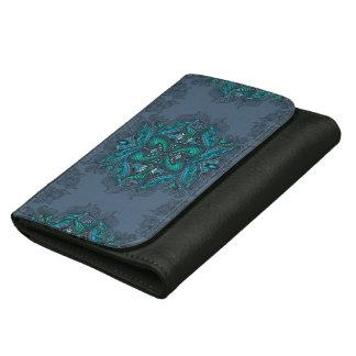 Raven of mirrors, dreams, bohemian, shaman leather wallet