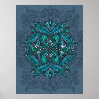 Raven of mirrors, dreams, bohemian, shaman poster